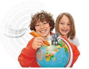 Interaktiver Globus puzzleball Ravensburger tiptoi